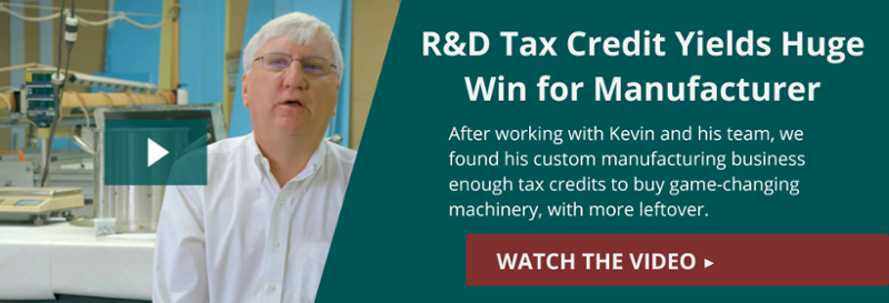 Watch our 4-minute video on how we saved one client enough to buy a huge piece  of game-changing machinery with the R&D Tax Credit